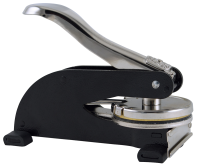 Create a crisp and clear impression of your official Alabama Notary Seal with a Black Desk Model Embosser for added strength.