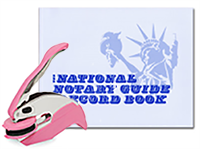 This value package combines an in-house custom-manufactured Pink Pocket Seal and National Notary Record Book. Satisfies your Arkansas notarial needs in one simple, stylish order.