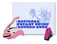 This value package combines a Pink Mobile Printy, Model 9412 Rectangular Stamp, Pink Pocket Seal, and Notary Journal. Support Breast Cancer Awareness. Satisfy Arizona notarial needs.