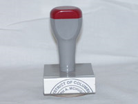 "Arizona Notary Circular Rubber Hand Stamp creates a crisp 1 5/8"" custom impression of your official notarial information."