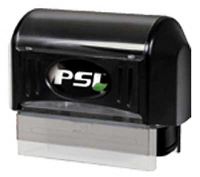 Trodat manufactured Pre Inked PSI Stamps utilize compact design to create rectangular impressions of your official customized Arizona notarial information.