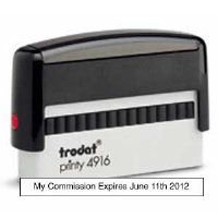"The Self Inking Commission Expires Stamp produces a one-line 3/8""X  2 3/4"" impression of your Arizona Notary Expiration Date."