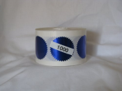 1000 Blue embossing foil labels to embellish documents with an added flush.
