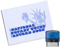 This Perfect Package for Complete Notarizations includes a Shiny Brand Blue Self Inking Alaska Notary Stamp and Notary Journal.