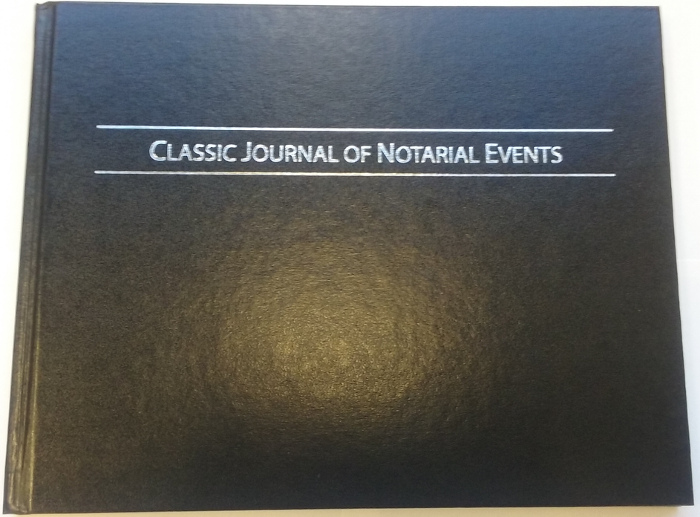The Hard Cover Classic Journal Of Notarial Events conquers all duties for the notary workplace.