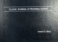 Custom engraved with your name, a Classic Journal of Notarial Events is ideal for a workplace notary performing single notarizations.