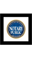 High quality, durable, Authorized & Bonded Notary Public Sign available at notarystamps.com.