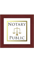 Indicate qualities of fairness and equanimity with this Notary Public Framed Brown Wood Sign!