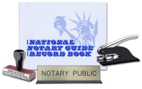 Bundle 4 great products in 1 package as you combine a custom-manufactured Alaska Rubber Hand Stamp, Pocket Seal, Notary Public Desk Sign, and Journal.