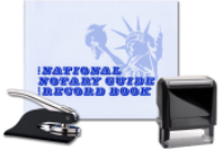 Bundle 3 of our most popular Arizona Notary Supplies options: a Pocket Seal Embosser, an Ideal Self Inking Stamp, and Notary Journal.