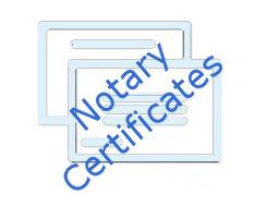 <h4>North Carolina<br>Notary Certificates</h4>