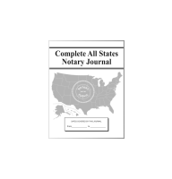 The Complete All States Notary Public Journal comes with a pliable Soft Cover, has space for over 200 entries, and complies with notarial guidelines throughout all 50 states.