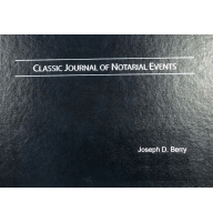 Custom engraved with your name on a hard cover, the Classic Notary Journal is ideal for performing single notarizations.