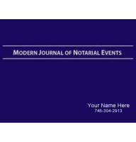Ideal for signing agents, the Modern Journal of Notarial Events is focused on loan signings and common notarial acts such as healthcare directives and wills. Personalized with your name and number on hard front cover!