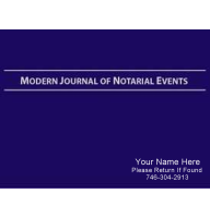 Ideal for signing agents, the Modern Journal of Notarial Events is focused on loan signings and common notarial acts such as healthcare directives and wills. Personalized with your name, number, & text statement on hard front cover!