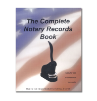 Keep a professional record of all notarial acts with The Complete Notary Journal Records Book™, the Finest Notary Records Book on the market today!