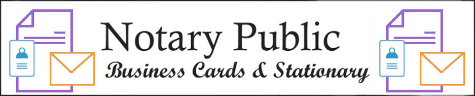 Arkansas Notary Public Business Cards and Stationary
