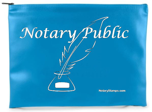 teal notary supplies bag