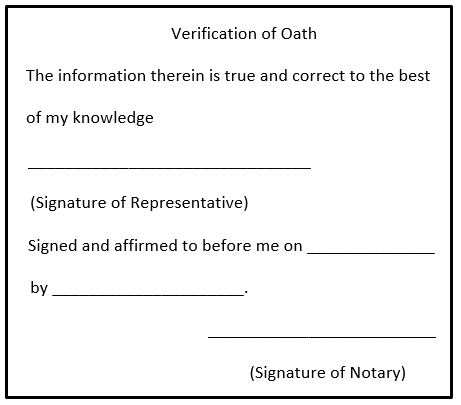 Arkansas Notary Pre Inked Verification of Oath Xstamper, Sample Image Impression