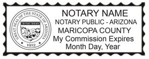 Alabama Notary Public Stamp, Sample Impression Image, Rectangle, 2.3x0.81 Inches