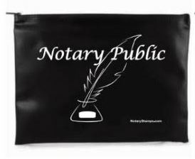 Notary Supply Bag - Black