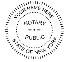 New York Notary Pocket Seal Sample Impression Image