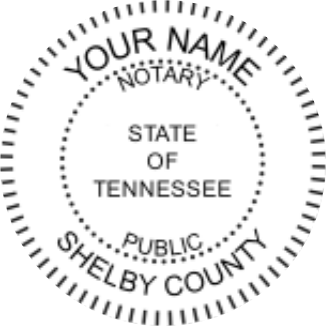 Tennessee Notary Pre Inked Maxlight Circular Stamp Sample Impression Image