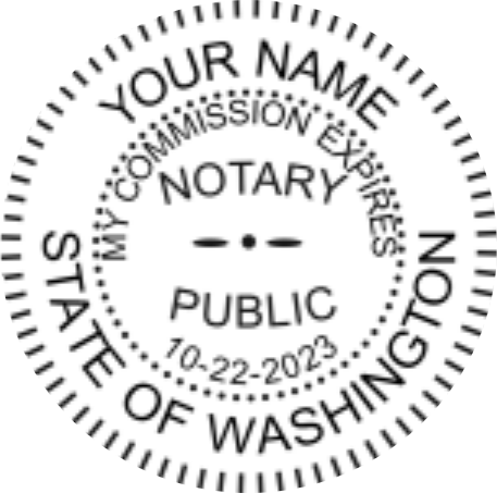 Washington Notary | Pocket Seal Embosser | Rubber Hand ...